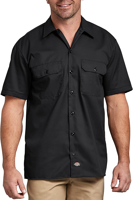 Dickies Men's Big and Tall Short-Sleeve Work Shirt