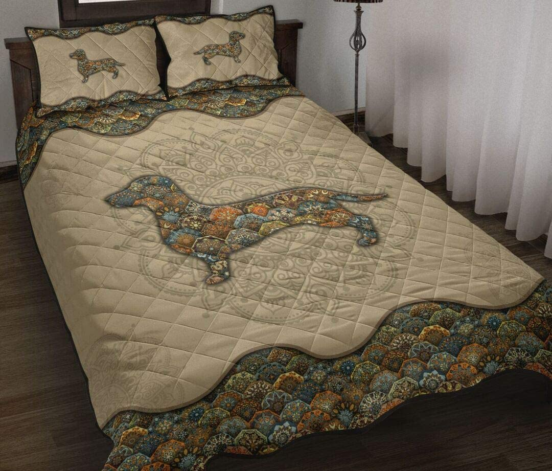 Personalized Mandala Quilt half Dachshund Twin Thro Ranking TOP5 King Queen
