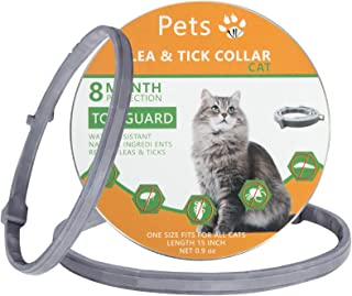 Dwcom Flea Collar for Cats, Safe and Effective Cat Flea Collars, 8 Months Protection Cat Flea and Tick Collars, Natural Fl...