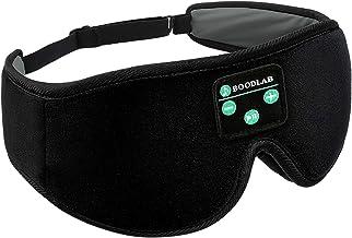 Boodlab Sleep Headphones Bluetooth Sleep Mask, 3D Sleep Eye Mask with Ultra-Thin HD Stereo Speakers Washable Adjustable fo...