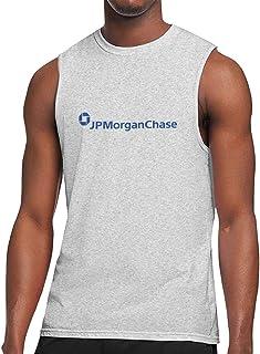 HaiguangZ Breathable Jpmorgan-Chase-Logo Cotton Sleeveless T-Shirt for Mens White
