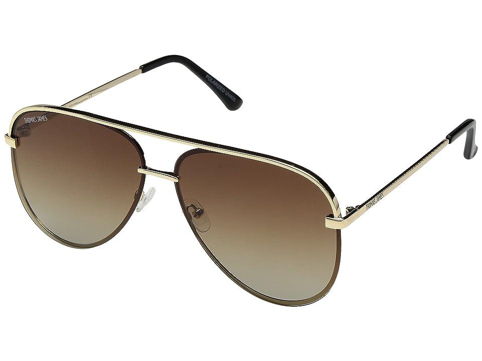 Retro Sunglasses | Vintage Glasses | New Vintage Eyeglasses THOMAS JAMES LA by PERVERSE Sunglasses Milk GoldBrown Gradient Lens Fashion Sunglasses $58.00 AT vintagedancer.com