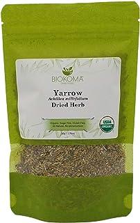 100% Pure and Organic Biokoma Yarrow (Achillea millefolium) Dried Herb 50g (1.76oz) In Resealable Moisture Proof Pouch