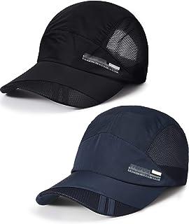 2 قطعة قبعة بيسبول قابلة للتعديل سريعة الجفاف الرياضة قبعة الشمس للنساء والرجال
