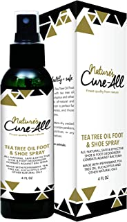 Nature's Cure-All Antifungal Foot and Shoe Deodorizer Spray 4oz Natural, Safe & Effective