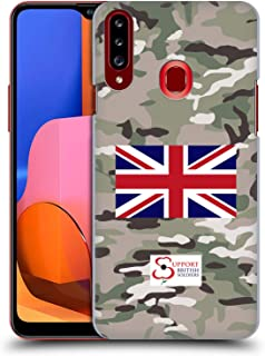 Official Support British Soldiers Multi Terrain Camo Hard Back Case Compatible for Samsung Galaxy A20s (2019)