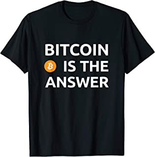 BTC Bull Hodl Moon Crypto Currency Bitcoin Is The Answer T-Shirt
