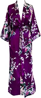 KIM+ONO Women's Kimono Long Robe - Peacock & Blossoms
