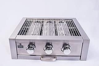Churrasqueira Concept Grill 3 queimadores aço inox modelo Standart 62,9 x 53,4