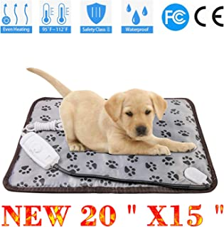 wangstar Heat Pad for Pet Dog Cats Indoors Safety Electric Dog Heat Mat Waterproof Steel Chew Proof