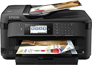 Epson WorkForce WF-7710 Color Inkjet Printer with Copy, Scan, Fax, Wi-Fi and Ethernet, Black