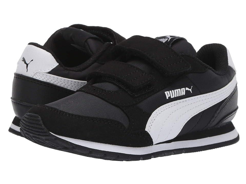 Puma Kids ST Runner v2 NL V (Little Kid) (Puma Black/Puma White) Boys Shoes