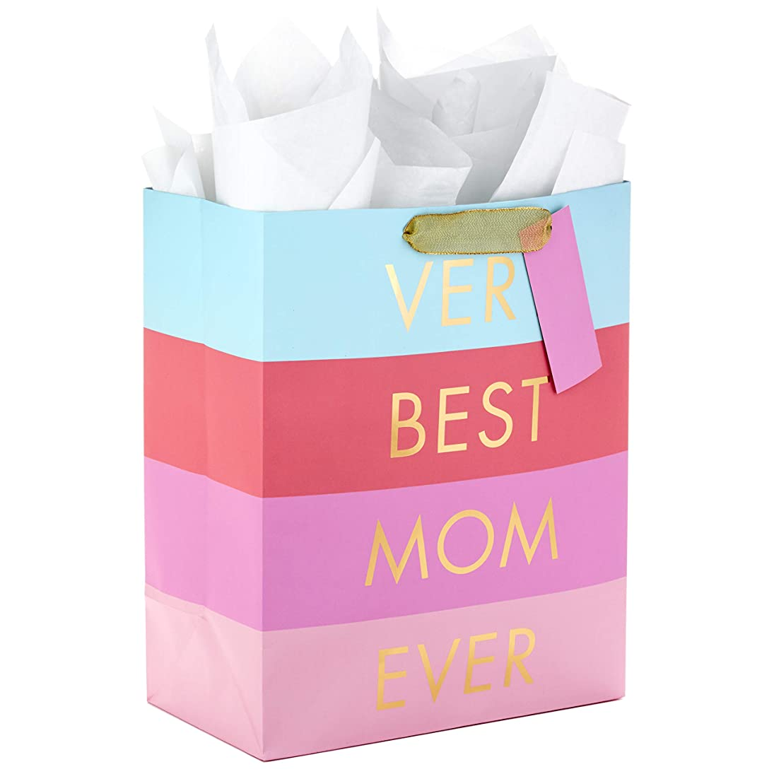 Hallmark Large Mother's Day Gift Bag with Tissue Paper (Very Best Mom Ever) krqqekbzrrp783