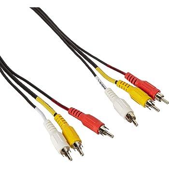 C2G 6ft Value Series RCA Type Audio Video Cable - cables de vídeo compuesto (RCA, RCA, Macho/Macho, Negro)