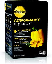 Miracle-Gro Performance Organics All Purpose Plant Nutrition, 1 lb. - All Natural Plant Food for Vegetables, Flowers & Herbs - Apply Every 7 Days for Best Results - Feedsup to 200 sq.'