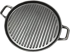 ZLDGYG 30cm Thickened Striped Cast Iron Steak Frying Pan BBQ Grill Plate Griddles Meat Roasting Pan Uncoated Nonstick Cook...
