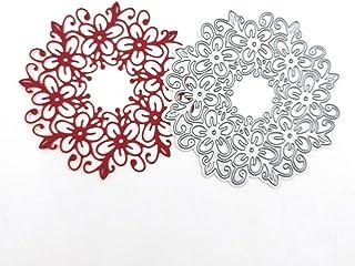 Fogun Puzzle Rond Dentelle Matériel Dies de decoupe Scrapbooking, DIY Album de Scrapbooking Outil de Gaufrage Décoration P...