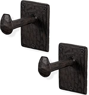 Rustic State Billow Railroad Spike Cast Iron Coat Hooks Set of 2