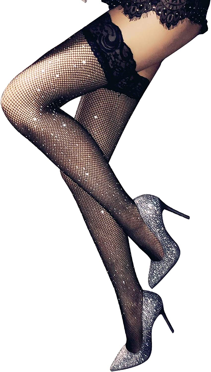 Lookswe Stockings Women's Thigh High Tights Lace Top Stay Up Socks Sexy Hosiery