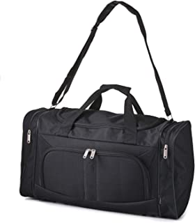 Carry On Lightweight Small Hand Luggage Cabin on Flight & Holdalls (Black)