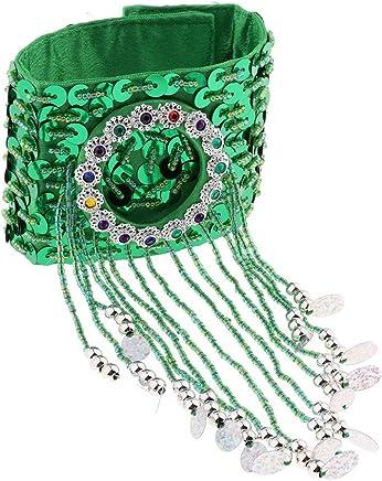 D DOLITY Belly Dance Tassel Bracelet Wrist Ankle Arm Cuffs Wristband Gypsy Jewelry