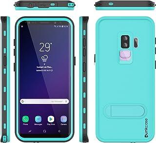 PunkCase Galaxy S9 Plus Waterproof Case, [Kickstud Series] [Slim Fit] [Ip68 Certified] [Shockproof] [Snowproof] Armor Cove...