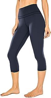 CRZ YOGA Leggings de treino de nus femininos com sensação de nua 19 polegadas - calças capri de cintura alta