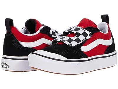 Vans Kids ComfyCush New Skool V (Little Kid) ((Checkerboard) Black/Red) Boy