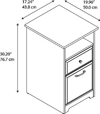 Bush Furniture Cabot 2 Drawer File Cabinet, Espresso Oak