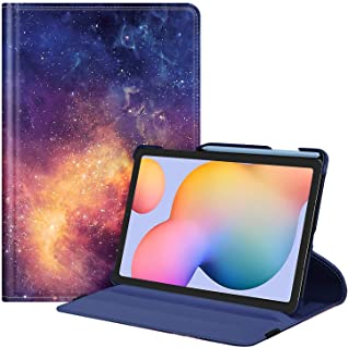 جراب Fintie دوار لهاتف Samsung Galaxy Tab S6 Lite 10.4 بوصة طراز 2020 SM-P610 (Wi-Fi) SM-P615 (LTE)، [حامل قلم S مدمج] غطا...