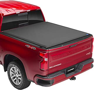 Lund Genesis Elite Roll Up, Soft Roll Up Truck Bed Tonneau Cover | 96893 | Fits 2014 - 2018 GMC Sierra & Chevrolet Silvera...