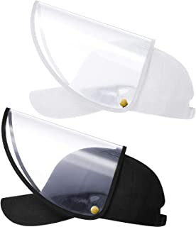 SATINIOR 2 Pieces Face Protective Hat Detachable Baseball Cap Adjustable Facial Cover Hat White and Black