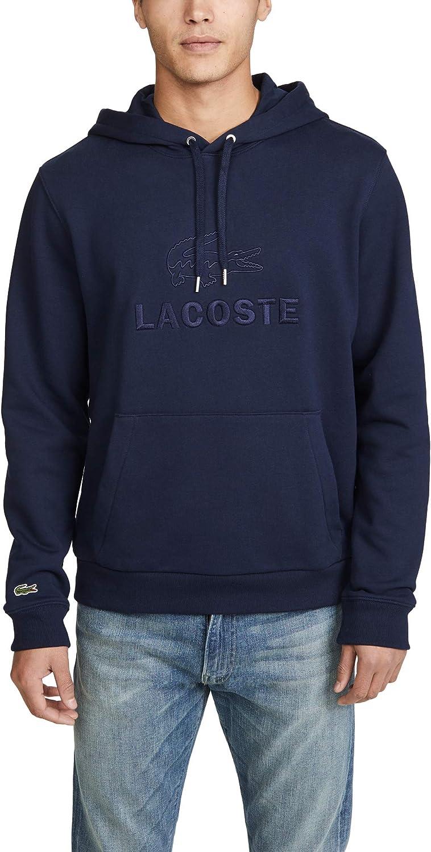 Lacoste Men's Tonal Croc Fleece Hoodie