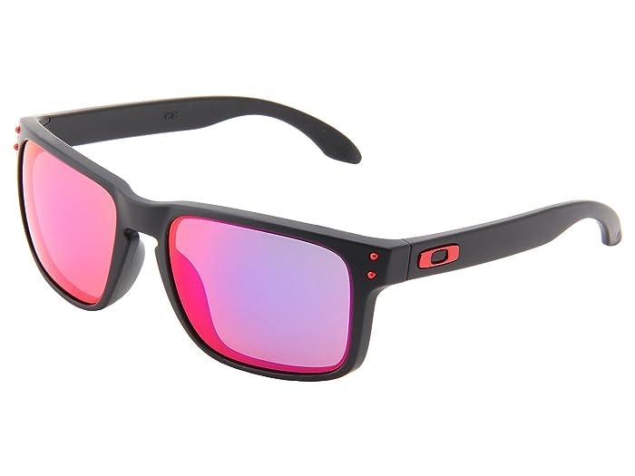 Oakley Holbrook (Matte Black w/Red Iridium) Sport Sunglasses