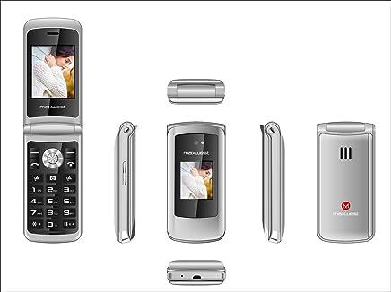 $39 » Flip Phone 3G GSM Unlocked BIG BUTTONS Dual Sim Maxwest Vice 3G FLIP + Extrenal LCD Bluetooth Mp3 Camera SOS Elderly (Silver)
