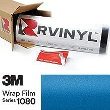 3M 1080 M227 Matte Blue Metallic 5ft x 1ft W/Application Card Vinyl Vehicle Car Wrap Film Sheet Roll