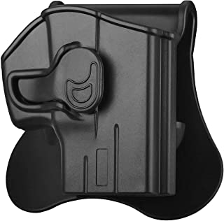 Taurus PT111 G2,G2C Holster OWB, Tactical Pistol Holster for Taurus Millennium G2 PT111 PT132 PT138 PT140 PT145 PT745, Polymer Outside Waistband Paddle Holsters with Carry Adjustable Cant, Black-RH