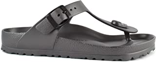Essentials Unisex Gizeh EVA Sandals Metallic Anthracite 41 R EU (US Men's 8-8.5)