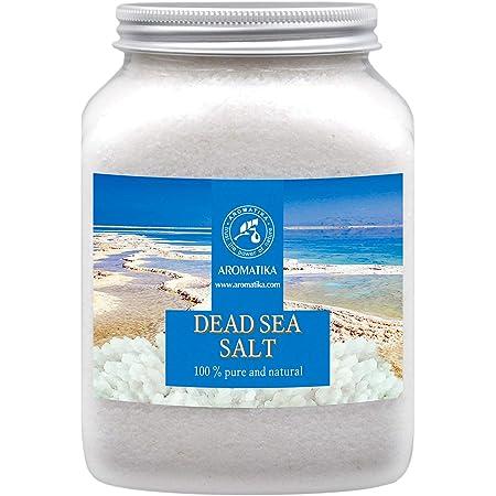 Sel de Mer Morte 1000g - 100% Pur et Naturel 1Kg - Idéal pour Bien Dormir - Soulagement du Stress - Bain - Beauté - Relaxant - Sels de Bain