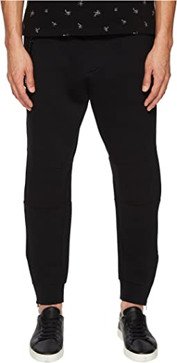 Sweatpants with Chain and Zipper Detailing
