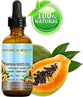 PAPAYA SEED OIL WILD GROWTH. 100% Pure / Natural / Undiluted/ Virgin / Unrefined Cold Pressed Carrier Oil. For Skin, Hair, Lip and Nail Care (4 Fl. oz. - 120 ml.)