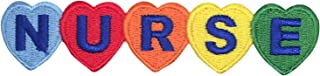 Medical Nurse with Colorful Hearts Iron on Embroidered Patch