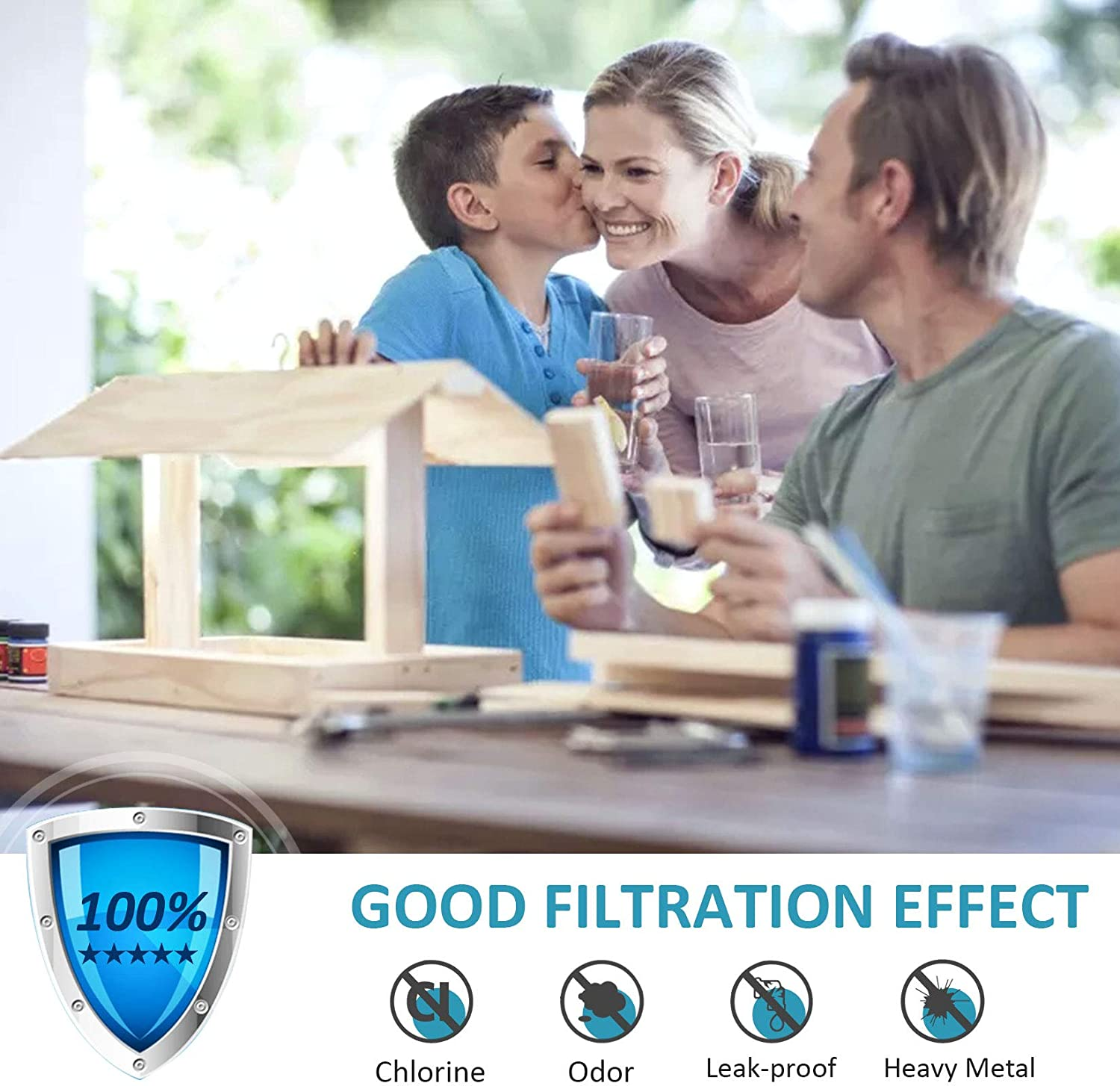 Compatible with Filter 1 P8RFWB2L W10295370A EDR1RXD1 Water Filter Cap Replacement 46-9930 46-9081-2-Pack W10295370 P4RFWB