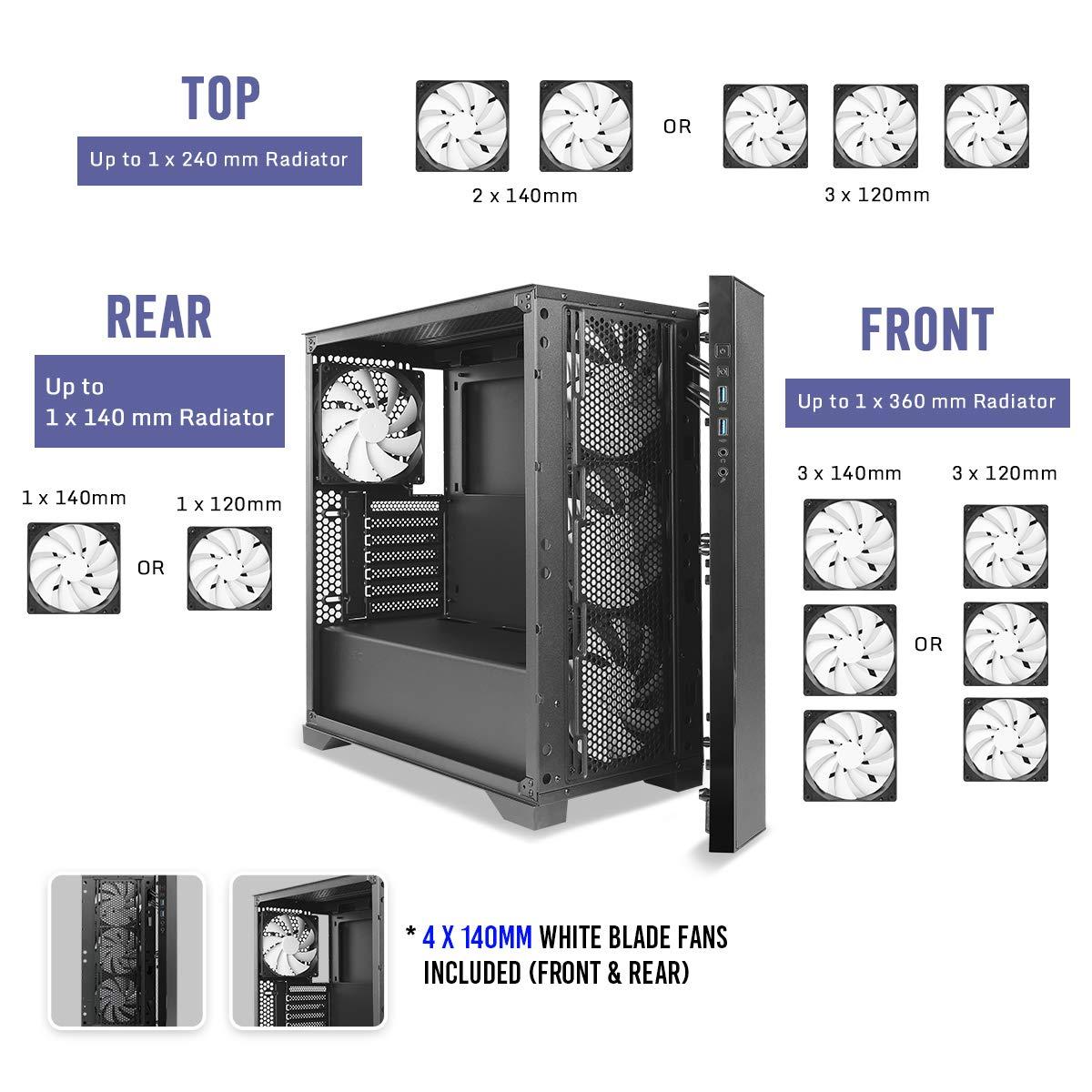 Antec Performance Series P82 Flow ATX - Caja de Torre Media, Color ...