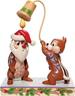 Enesco Jim Shore Disney Traditions Christmas Chip and Dale Figurine, 8.2 Inch, Multicolor