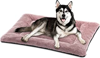 SIWA MARY Dog Bed Mat Soft Crate Pad Washable Anti-Slip Mattress for Large Medium Small Dogs and Cats Kennel Pad 42'' Pink