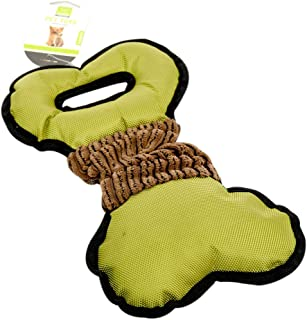 HOUZE Pet Toy Tug Bone, Green