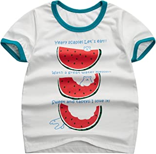 Sooxiwood Boys T-Shirt Watermelon Car Printing