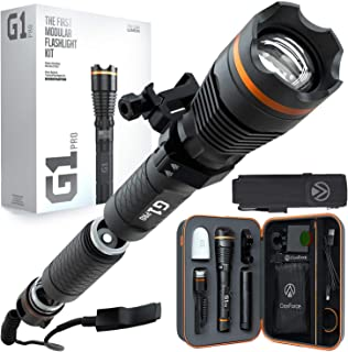 DanForce G1 PRO:Patented Tactical Flashlight with Holster, Weapon Mount, Remote Switch. Rechargeable High 1080 Lumens Turn...
