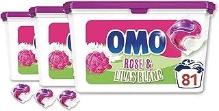 OMO Wasmiddelcapsules 3-in-1 roze/lila 81 capsules 3 x 27 wasbeurten 572 g